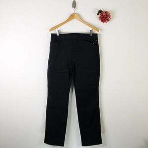 SUSAN GRAVER Stretch Twill Straight Jeans